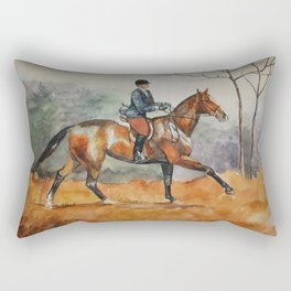 Fall Rider Rectangular Pillow