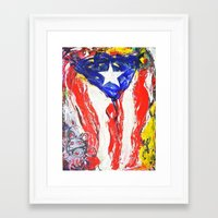 puerto rico Framed Art Prints featuring Puerto Rico by Joel Gonzalez