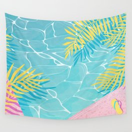Tropical pool chill Wall Tapestry