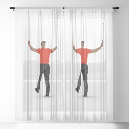 Tiger Woods Masters Champ (White) Sheer Curtain
