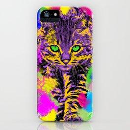 Cute color cat iPhone Case