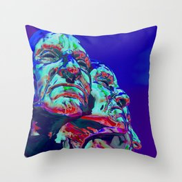 Faces of Anger Throw Pillow