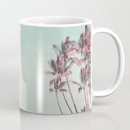 Tropical Palm Trees In Surreal Pink Coffee Mug