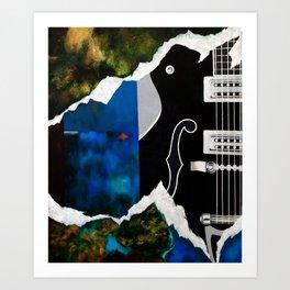Music Triptych: Guitar Art Print