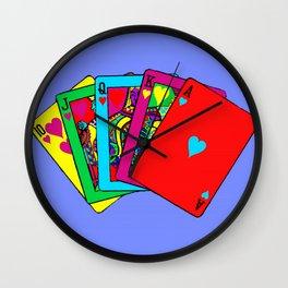 Fluorescent Royal Flush Wall Clock