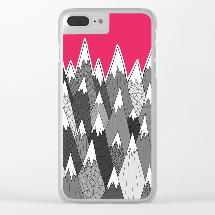 The Tall Grey Mountains Clear iPhone Case