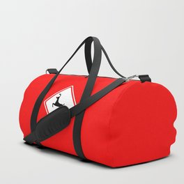Christmas Reindeer Street Sign Duffle Bag