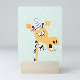Stephanie the Giraffe Mini Art Print