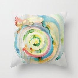 Miami Beach Watercolor #4 Throw Pillow