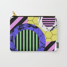 Stripes? Marble? Hex? - Random, eclectic, geometric, abstract design Carry-All Pouch