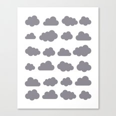 Grey clouds winter time art Canvas Print
