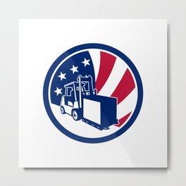 American Logistics USA Flag Icon Metal Print