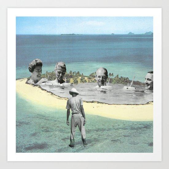 L'île Art Print
