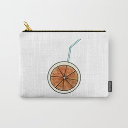 bright orange and cocktail straw Carry-All Pouch