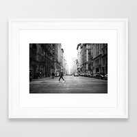 cityscape Framed Art Prints featuring Cityscape by Penny Pixel