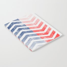 Chevron in Red White & Blue Notebook