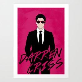 Pink Darren Criss Art Print
