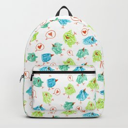 Scribble Birds Backpack