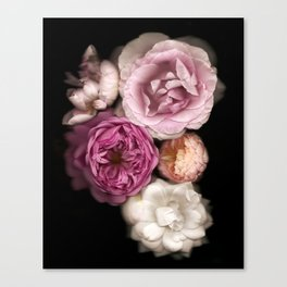 Pink, Purple, and White Roses Canvas Print