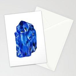 Tanzanite Birthstone Watercolor Illustration Stationery Cards