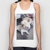 labrador Tank Tops featuring Labrador Puppy by Diandra