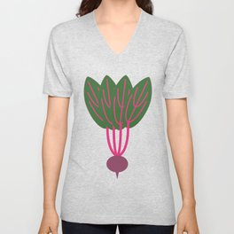 Purple Beet  Unisex V-Neck