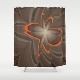 Wood flower 2 Shower Curtain