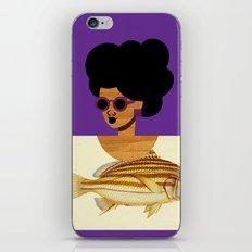 Postcard Fashion in Purple iPhone & iPod Skin