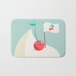 Cherry on top (of the whipped cream mountain) Bath Mat
