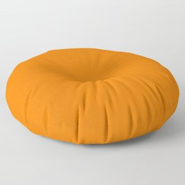 Bright Neon Orange Russet 2018 Fall Winter Color Trends Floor Pillow
