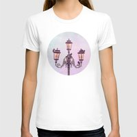 lanterns T-shirts featuring MAGICAL VENICE | Pink Lanterns by INA FineArt