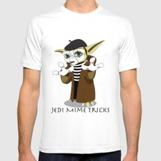 Jedi Mime Tricks White SMALL Mens Fitted Tee