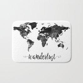 Wanderlust World Map Bath Mat