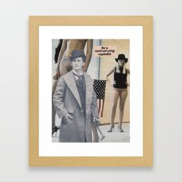 Be a card carrying capitalist Framed Art Print