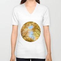 rush V-neck T-shirts featuring Gold Rush by Kim Bajorek