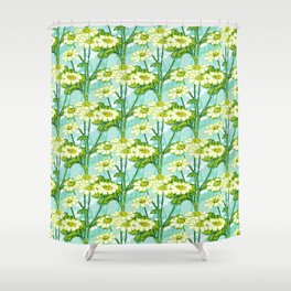 Just A Few Feverfew Shower Curtain