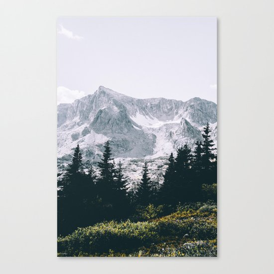 Mountains #faded Canvas Print