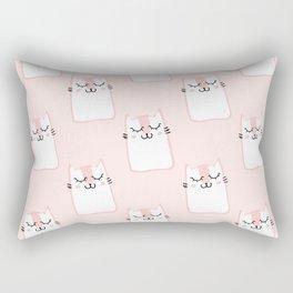 Cats Pattern Pink Rectangular Pillow