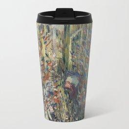 The Rue Montorgueil in Paris Travel Mug
