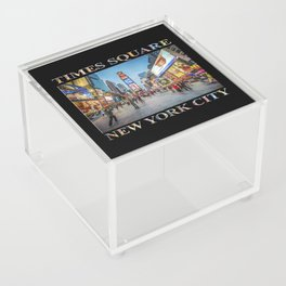 Times Square Sparkle (with type on black) Acrylic Box