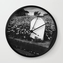 Cemetery in Bloom Wall Clock