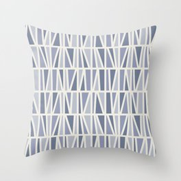Slanted in Purple Throw Pillow
