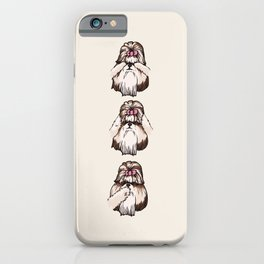 No Evil Shih Tzu iPhone Case