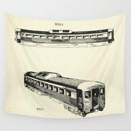 Railway Car-1951 Wall Tapestry