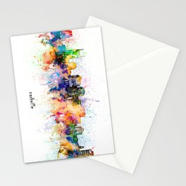nashville skyline artistic Stationery Cards