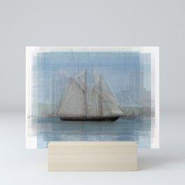 Bluenose Ship Overlay Mini Art Print