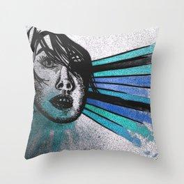 Facial Expressions Throw Pillow