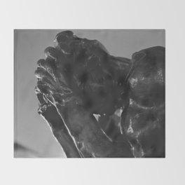 Auguste Rodin - Burger of Calais Statue Throw Blanket