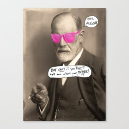 Sigmund Freud does not want to hear about your mother Canvas Print