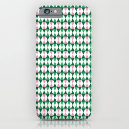 Harlequin Garden Square iPhone Case